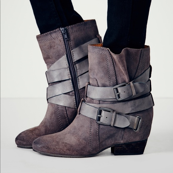 5a11c5df1f4 Free People Shoes - Free People Harlin Hidden Wedge Boot in Graphite